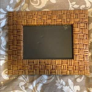 5x7 wicker picture frame